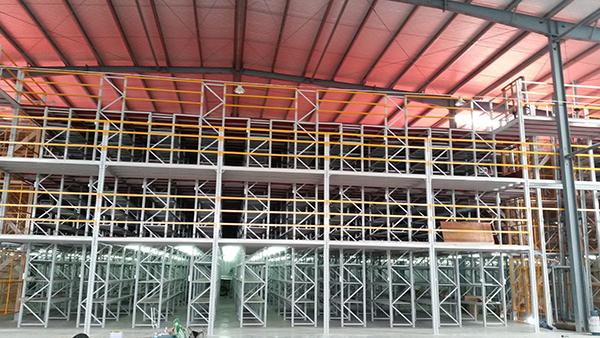 阁楼货架各零件的表面喷涂颜色是蓝色或是桔红色,可以定制吗?