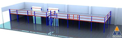 东莞阁楼平台应用到了深圳电子厂的仓库,为他带来大大储存量