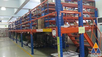 阁楼平台让东莞五金公司的仓库变得更加整齐,效率更加高