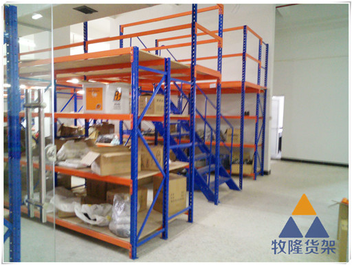 广东牧隆货架厂,让你用生产车间阁楼货架解决货物乱堆