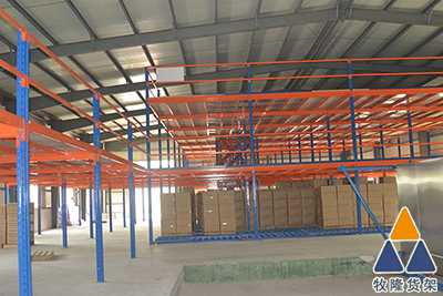 阁楼仓储货架的现场图